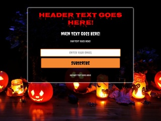Capture Page - Halloween Template