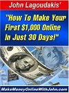 How To Make Your First $1,000 Online In Just 30 Days!