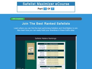 Safelist Maximizer eCourse Pt1