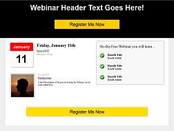 Webinar Registration Template 1