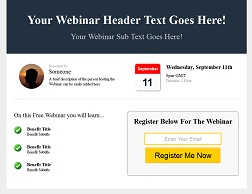 Webinar Registration Template 2